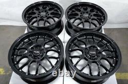 16 Wheels Rims Black 5 Lugs Fit Honda Accord Civic Kia Soul Forte Corolla Prius