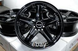 17 Wheels 5x100 5x114.3 Honda Accord Civic Prelude Corolla Fusion Black Rims