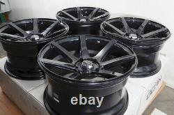 17x9 5x114.3 Wheels Ford Mustang Accord Civic Is300 Corolla Camry Black Rims (4)