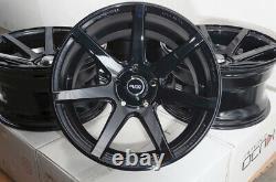 17x9 Wheels Lexus IS300 Is350 Honda Accord Civic Mustang Wrx Black Rims 5x114.3