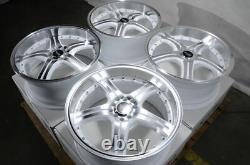 18 5x100 5x114.3 White Wheels Fits Subaru Legacy Wrx Impreza Accord 5 Lug Rims