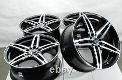 18 5x114.3 5x100 Black Wheels Fits Matrix Prius 86 Celica Corolla CrV 5 Lug Rims