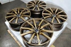 18 5x114.3 Bronze Wheels Fits Toyota Avalon Camry Matrix Prius Civic 5 Lug Rims