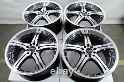 18 Black Wheels Fits Honda Accord Civic Prelude Element Insight Crosstour Rims