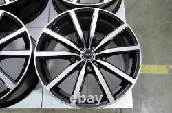 18 Wheels Fit Hyundai Veloster Tucson Sonata Elantra Crosstour Black Rims 5x114