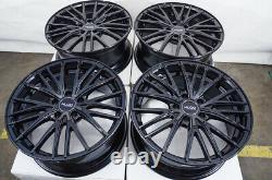 18 Wheels Fit Nissan Altima Juke Maxima Sentra Civic Accord Black Rims 5x114.3