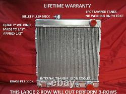 1964 1965 1966 Ford Mustang Falcon Comet Aluminum Radiator Lifetime Warranty