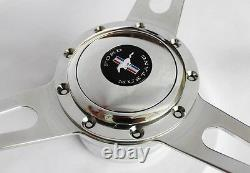1965-1967 Ford Mustang Retro Cobra Style 9 hole Steering Wheel 15 Mustang cap
