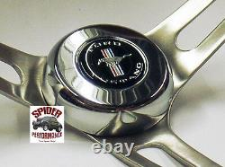 1965-1969 Mustang steering wheel PONY 15 MUSCLE CAR MAHOGANY
