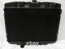 1967 1970 Ford Mustang Mercury Cougar Big Block 24 Black Aluminum Radiator