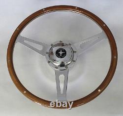 1968 77 Mustang Cobra Style 9 Hole Wood Steering Wheel 15 Mustang Center Cap