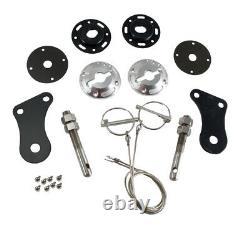2005-2009 Mustang GT & V6 Billet Aluminum Complete Hood Pin Pins Kit