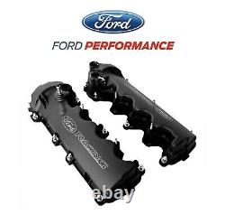 2005-2010 Ford Mustang GT 4.6 3V Black Ford Racing Cam Valve Covers Pair