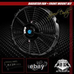 3-row Aluminum Radiator+2x 12fan Black For 79-93 Ford Mustang V8/v6 Lx/gt/cobra