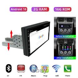 7'' 1 Din Android 10 2+16 Car Radio Stereo BT GPS MP5 Player WiFi Mirror Link