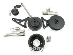 79-93 Ford Mustang 5.0L Pulley & Bracket Kit Serpentine Billet Aluminum CNC