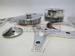 79-93 Mustang 5.0L SB Ford 302 Serpentine Aluminum Pulley & Bracket Kit Fox-body
