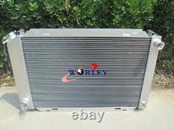 Aluminum radiator & fans For FORD MUSTANG GT / LX 5.0L V8 302 1979-1993 85 86 87