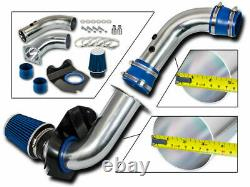 BLUE COLD INDUCTION AIR INTAKE + DRY FILTER FOR FORD 94-98 Mustang Base 3.8L V6