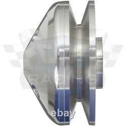 Billet Aluminum Ford V-Belt Pulley Kit 302 351W 351C 351M 400 4 Bolt Crank