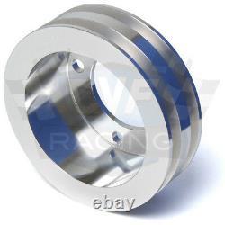 Billet Aluminum Ford V-Belt Pulley Kit 302 351W 351C 351M 400 Underdrive 5.0 5.8