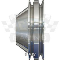 Billet Aluminum V-Belt Pulley Kit 302 351W 351C 351M 400 Air A/C Vintage Classic