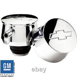 Billet Aluminum Valve Cover Breather with 1 1/4 Neck Bowtie GM cap