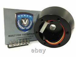 Black Billet 6 Hole Steering Wheel Hub Adapter For 1984-2004 Ford Mustang