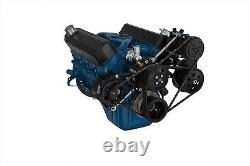 Black Ford 289 302 V-Belt Conversion Kit Aluminum A/C Vintage Air Conditioning