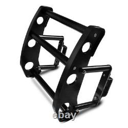 Black Front Bumper Beam Bracket Protector Safety Bar Kit for Ford Mustang 15-17
