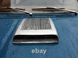 Fits 60's Ford Mustang GT/350 Falcon Hood scoop Functional Finned Cast Aluminum