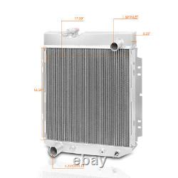 For 65-66 Ford Mustang/64-65 Mercury Comet Aluminum Core 3-Row Cooling Radiator
