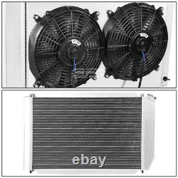 For 79-93 Ford Mustang Fox Aluminum 3 Rows Racing Radiator+Cooling Fan Shroud