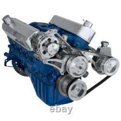 Ford 5.0L Serpentine Pulley Kit Power Steering SBF Small Block Saginaw SBF 302