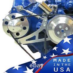 Ford FE Engine Alternator Bracket 390 427 428 V-Belt Polished Billet Aluminum