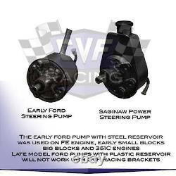Ford FE Engine Power Steering Bracket 390 427 428 V-Belt Billet Aluminum Pump