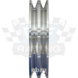 Ford FE Engine Pulleys Underdrive Kit 390 427 428 VBelt Billet Aluminum V-Belt