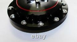 NEW! 1965-1973 Ford Mustang Gas Cap Twist on Style Billet & Black Running Horse