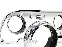 NEW! 1967 Ford Mustang DASH TRIM KIT WITH Bezel Brushed ALUMINUM Set Deluxe