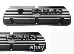 New! Ford Mustang Shelby Cobra Open Letter Valve Covers Powered by Ford 289 V8