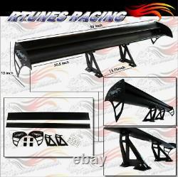 Rtunes 55 Type S Universal Aluminum GT Double Deck Spoiler Wing BLACK Ford