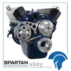 Small Block Ford 289-302-351W Serpentine Conversion Kit SBF 6 Rib Alternator