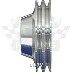 Small Block Ford Pulleys 289 302 351W V-Belt Kit 2V 4 Bolt SBF Underdrive 2V
