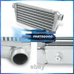 Universal 30.75X11.75X3 Tube & Fin Big Turbo Intercooler Aluminum Silver JDM