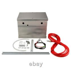 Universal Polished Billet Aluminum Complete Battery Box Relocation Kit Race PC