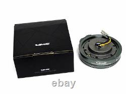 Universal Vms Racing Thin Short Slim Steering Wheel Quick Release Gun Metal Hub