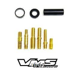 Vms Racing Black Carbon Fiber Short Billet Aluminum 3 Inch Roof Antenna