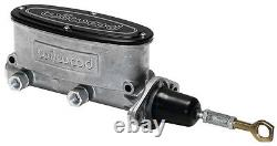 WILWOOD ALUMINUM TANDEM CHAMBER MASTER CYLINDER FOR 64-73 MUSTANG WithMANUAL BRAKE