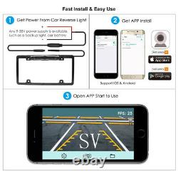WiFi Wireless Car License Plate Rear View Reverse Backup Camera For Android ios