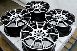 15 Roues Honda Accord CIVIC Prelude Corolla Prius Scion Tc Xb 5 Lugs Black Rim